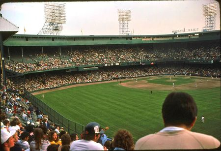 Tiger Stadium upper deck 1976