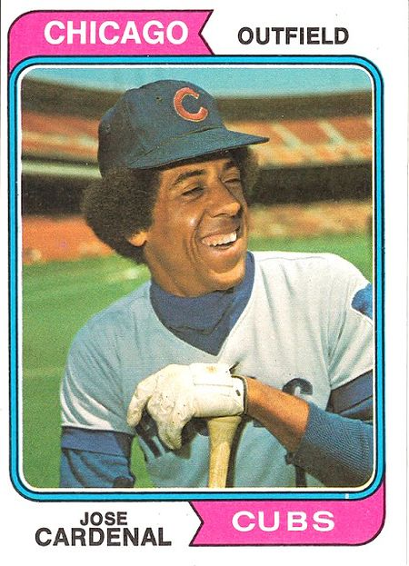 1974 Topps #185 Jose Cardenal_0001